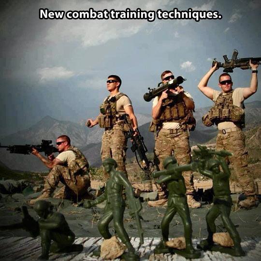 Combat training techniques…