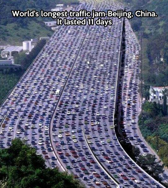 Longest traffic jam in the world…