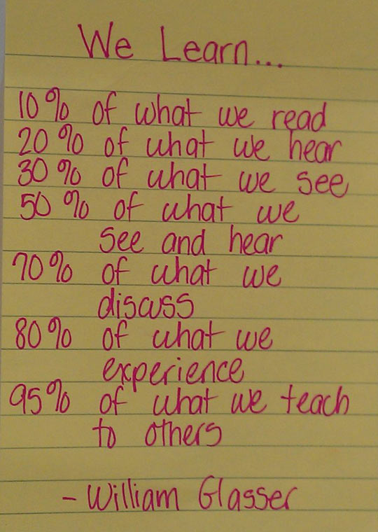 What we really learn…