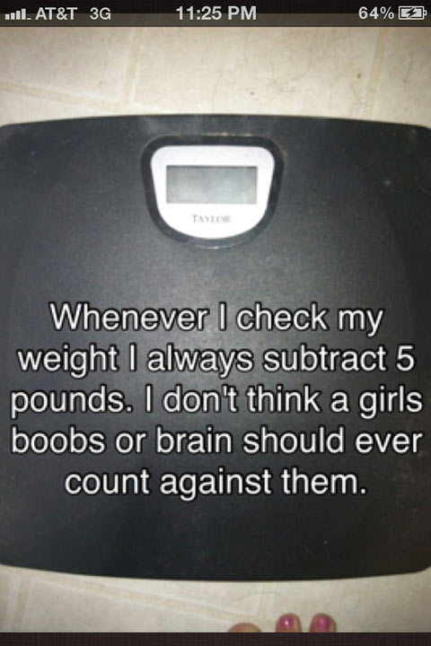 Whenever I check my weight…