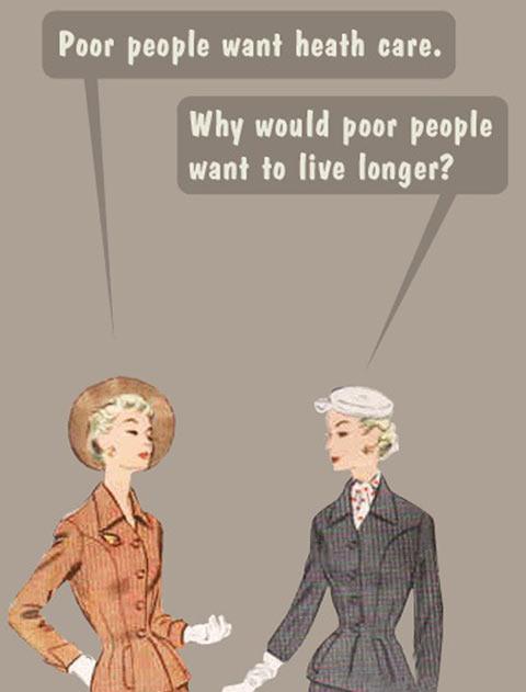 Poor people needs…