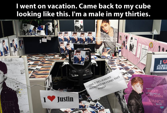 funny-work-Justin-Bieber-cube-vacations