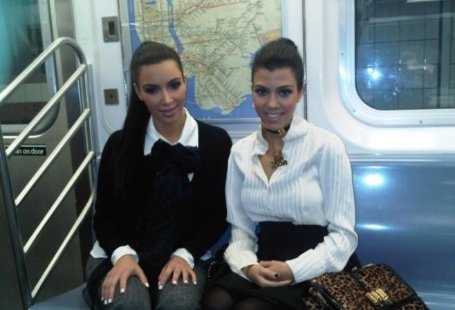 3 Kardashians Ride the Subway