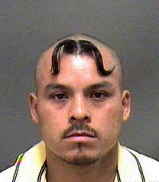 9 He Couldn't Grow a Moustache on His Face...So Grew It on His Head