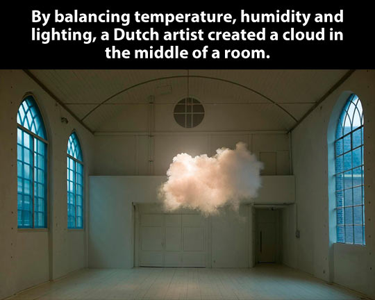 A cloud in the middle of a room