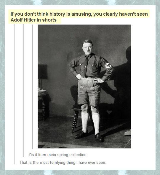 HISTORY IS AMUSING.
