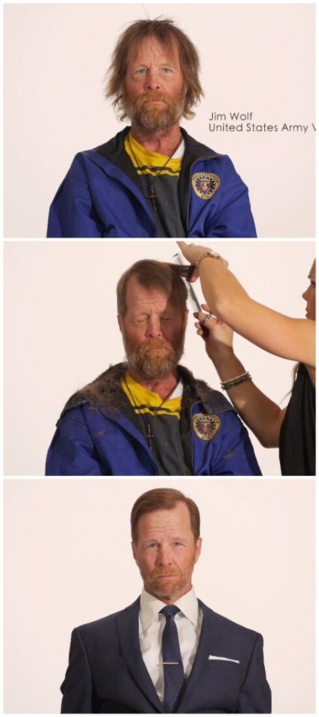 Homeless US veteran time lapse