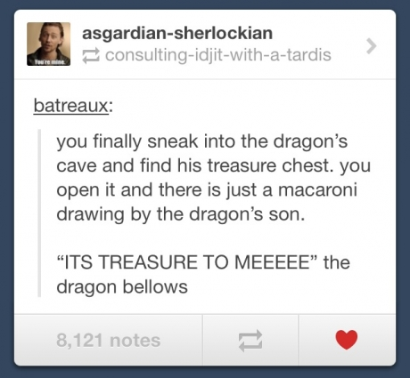 I imagined Benedict saying this