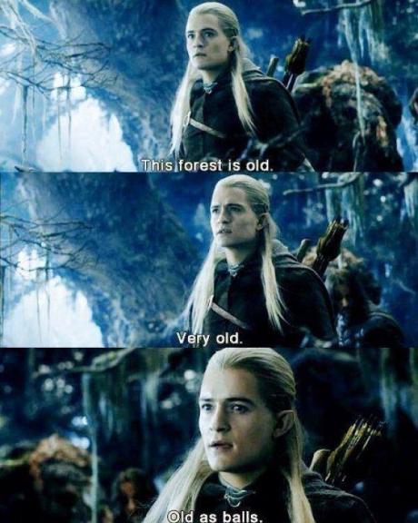 Legolas has a way with words