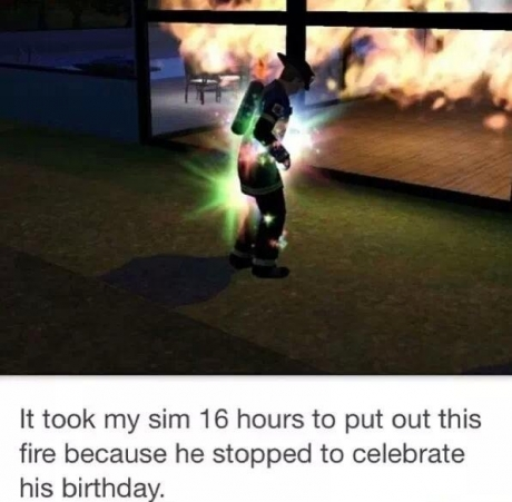 Sims moment