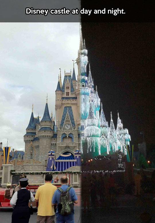 cool-Disney-castle-day-night-park