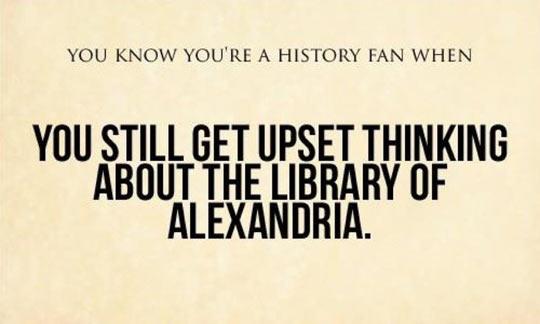 cool-Library-Alexandria-history-fan-upset