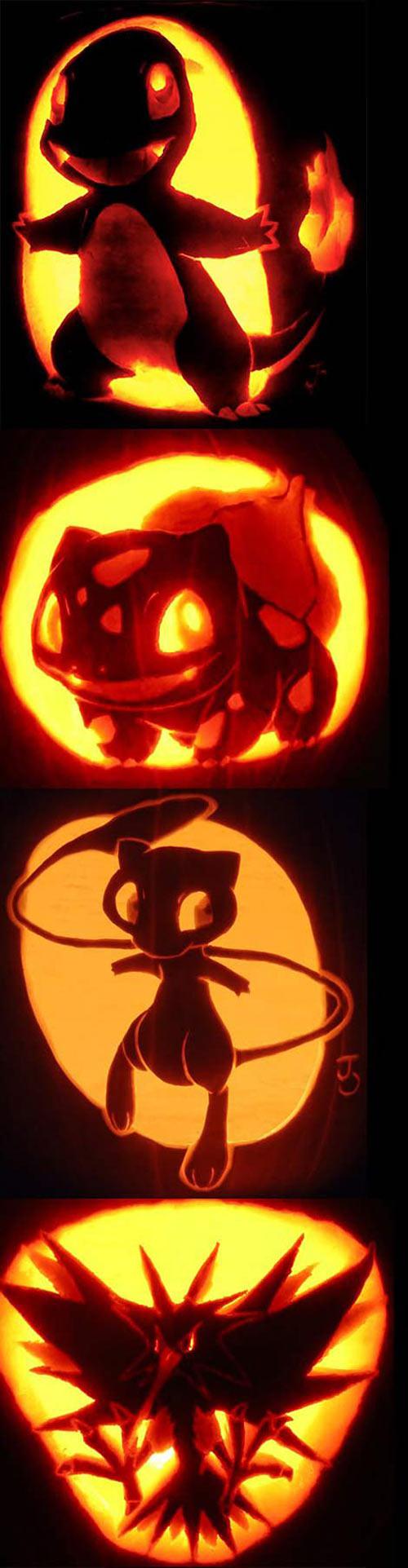 Pokemon carved pumpkins...