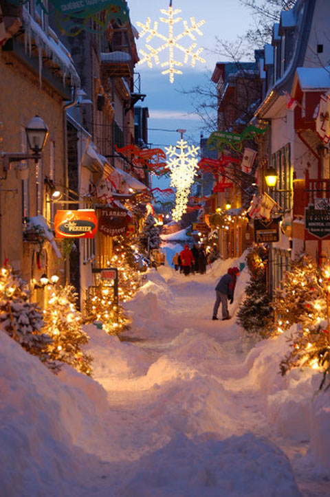 This is not a movie set. This is Quebec, Canada…