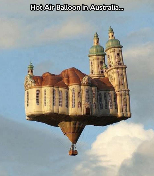 Inflatable castle in the air…