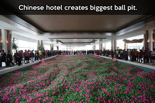 The biggest ball pit in the world…