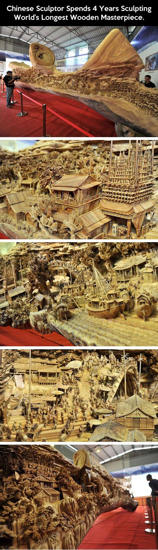 World's longest wooden masterpiece…