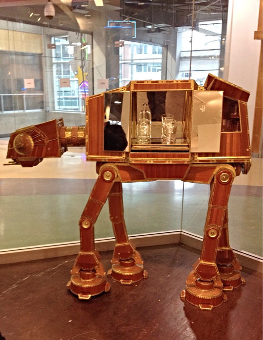 The coolest Star Wars liquor cabinet…