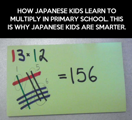 This is why Japanese kids are smarter…