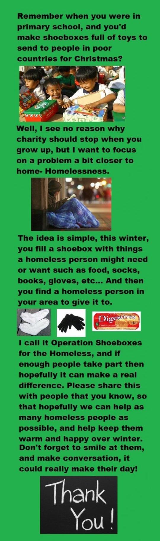 Operation shoebox…