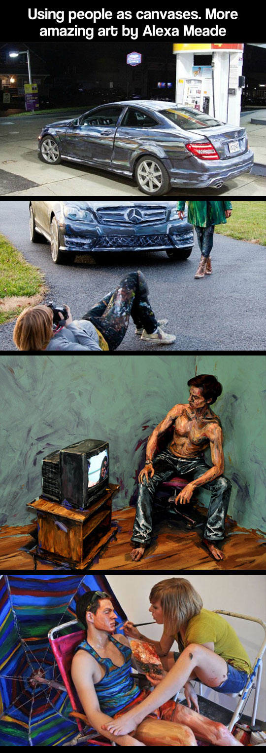 Using people as canvases...