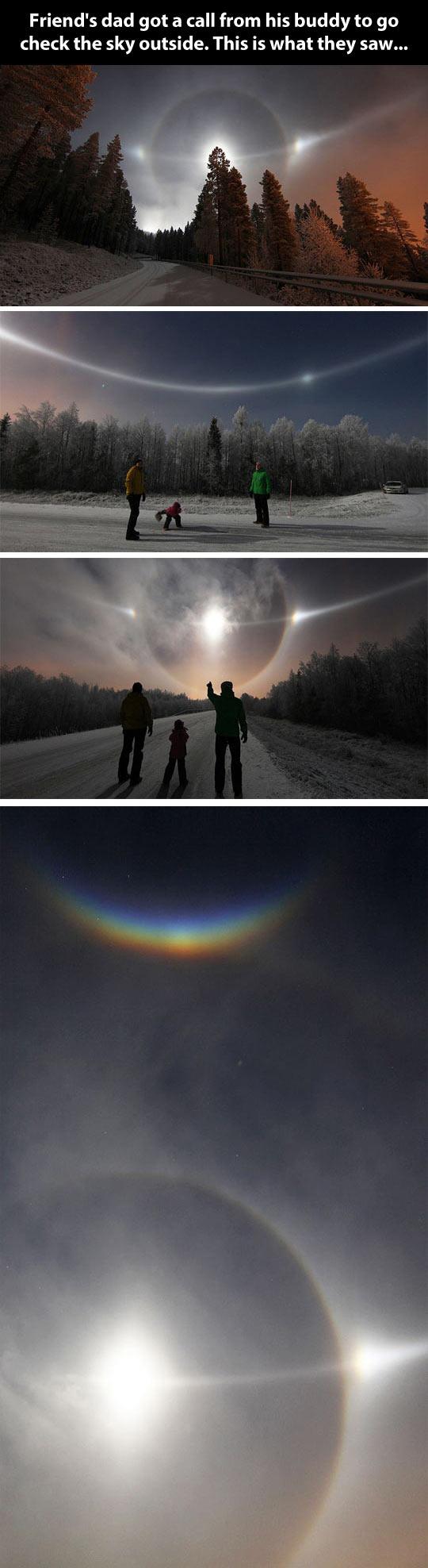 Very unusual sky…
