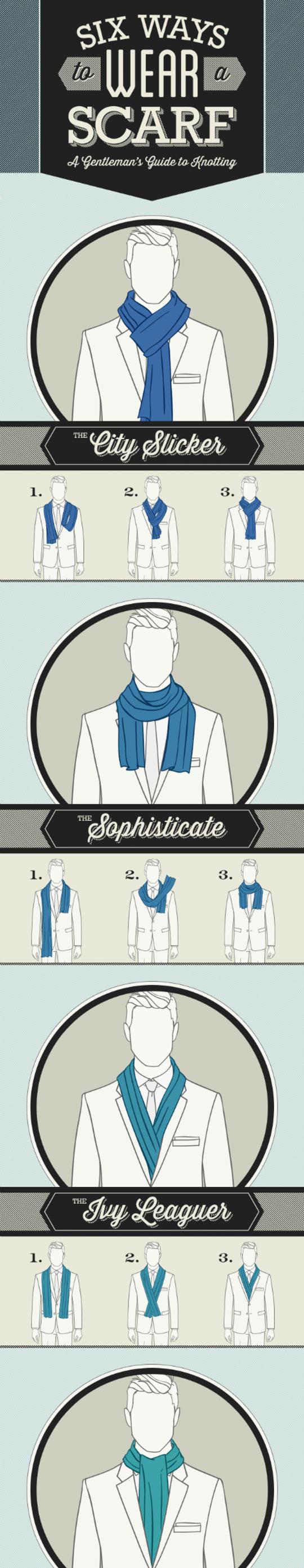 Six ways to wear a scarf...