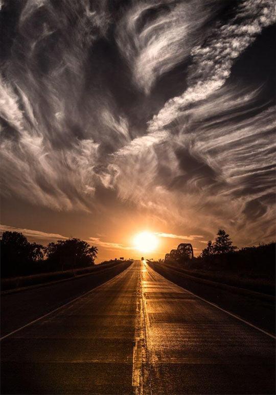 cool-sunset-road-sun-sky