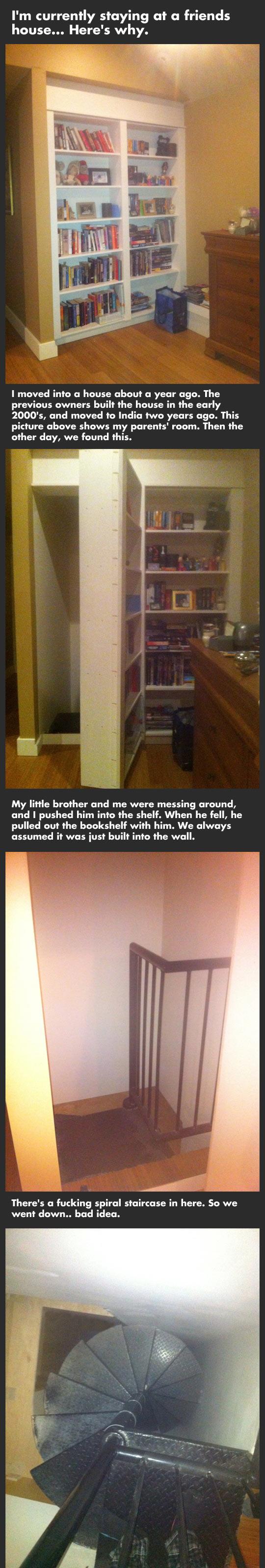 A secret room behind a bookshelf is cool until...