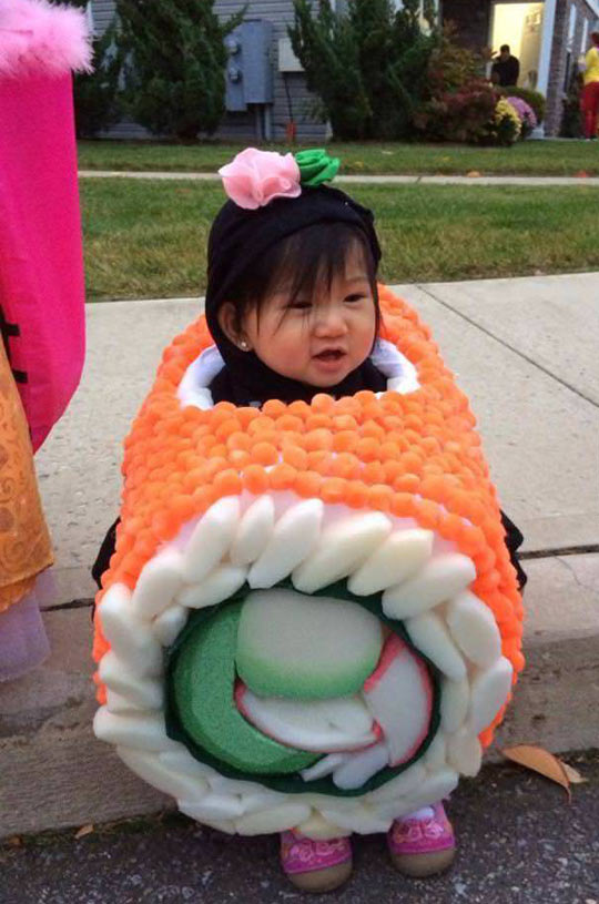 The cutest piece of sushi you'll see today…