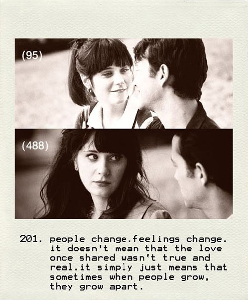 Time changes people…