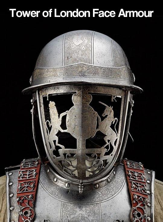 Face armour…