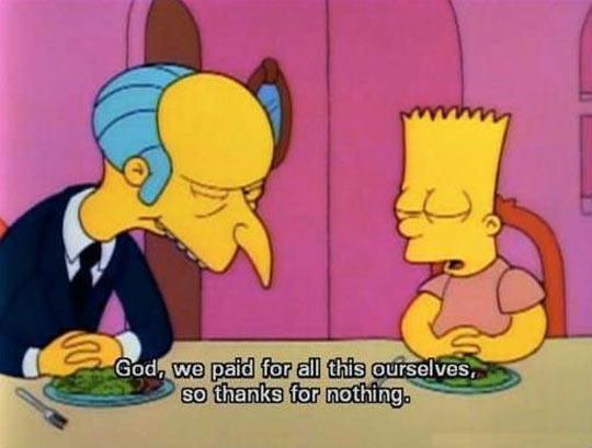 Oh Bart…