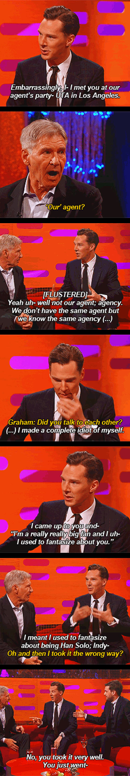 Benedict Cumberbatch is a huge fan of Harrison Ford...