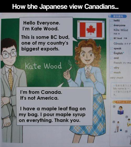 Canadians according to Japan…