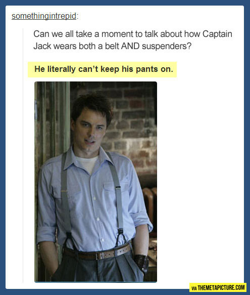 Captain Jack's suspenders…