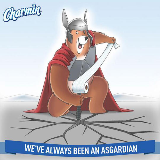 Yes, Charmin, we see what you did there…