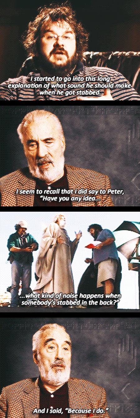 Saruman and Peter Jackson interview
