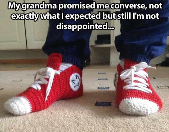3b272fca1529 Crochet Converse slippers…