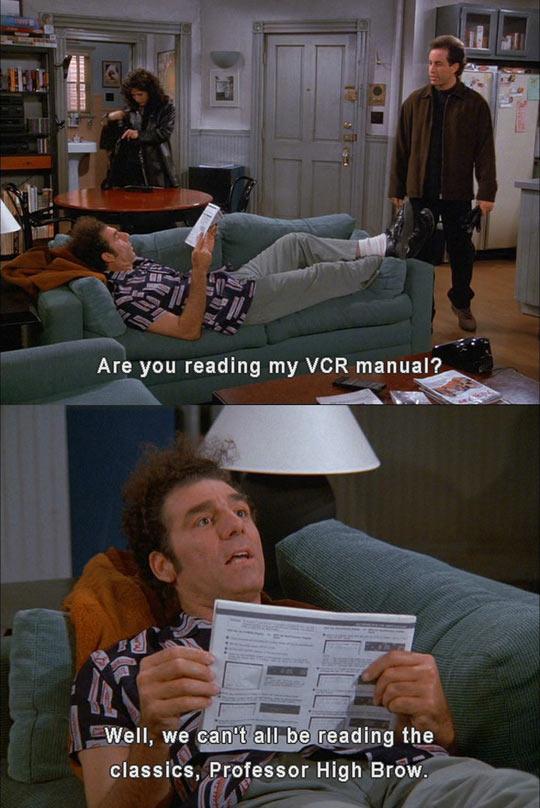 funny-Cosmo-Kramer-reading-VCR-manual