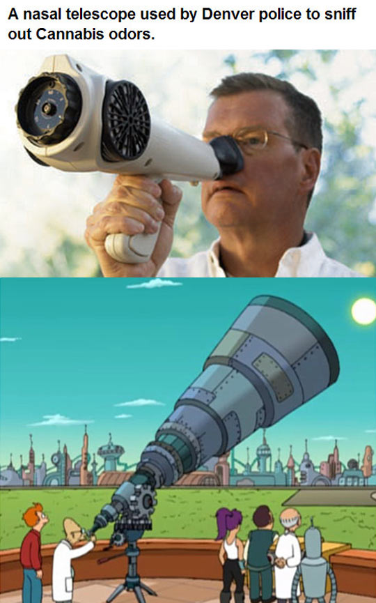 funny-Denver-police-telescope-odors-Futurama