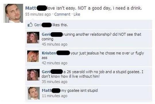 My goatee isn't stupid…
