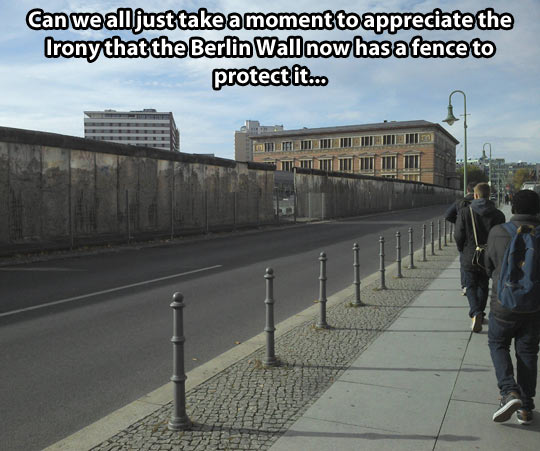 A fence at the Berlin Wall…