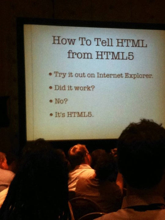 How to tell it's HTML5…