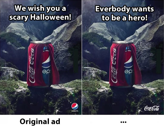 Coca Cola vs. Pepsi advertisements…