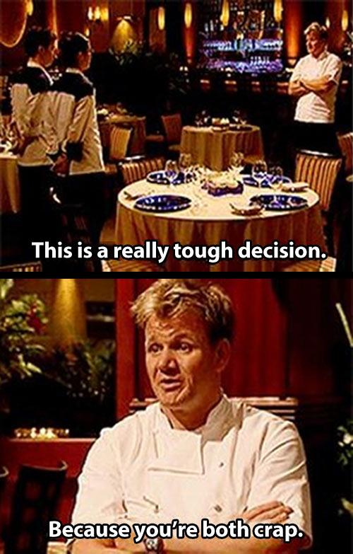 Tough decision…