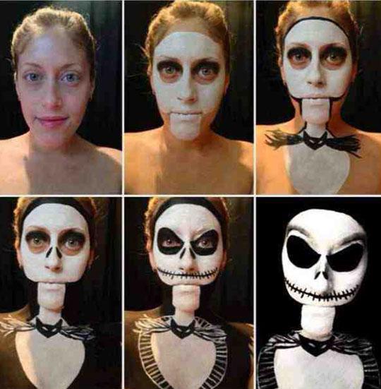 Jack Skellington Halloween make up…