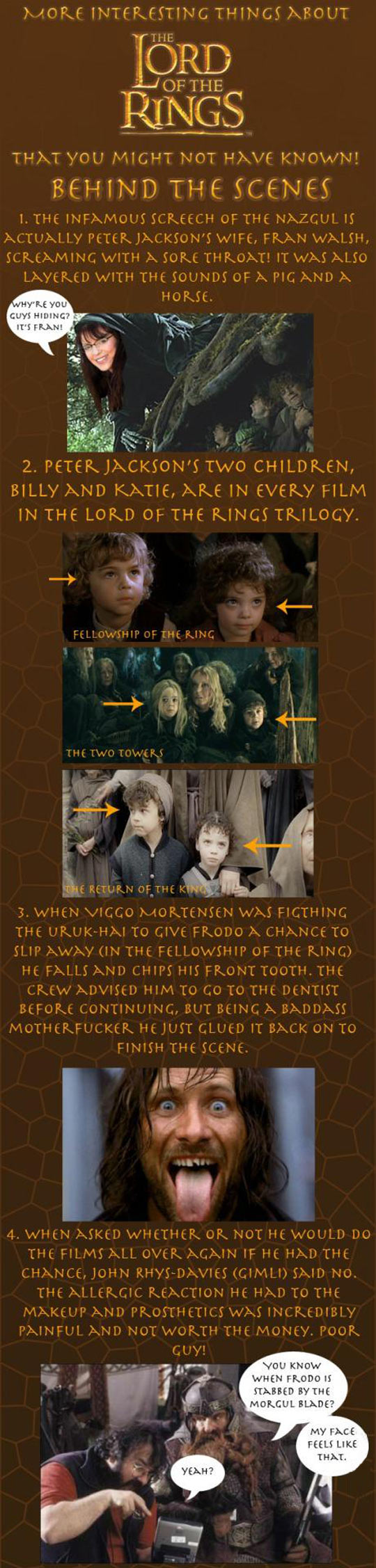 Facts about The Lord of the Rings that you might not have known...