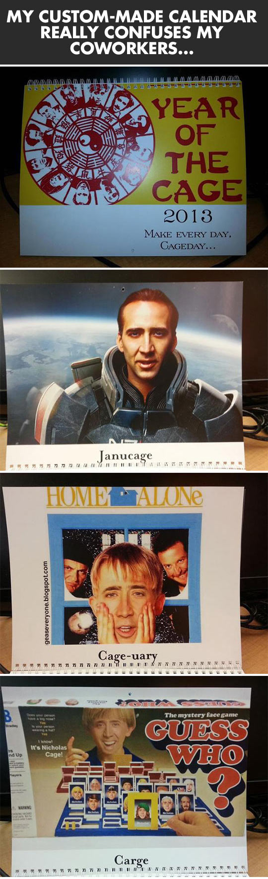 My custom-made calendar really confuses my coworkers...