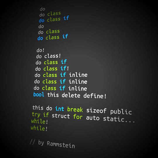 Rammstein coding…